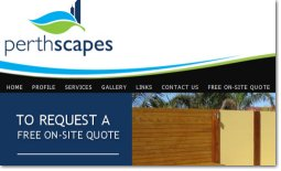 Perthscapes Website by Zap IT Website Development Perth WA <br/> click to view