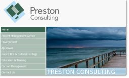Preston Consulting website Perth WA, by Zap IT <br/> click to view