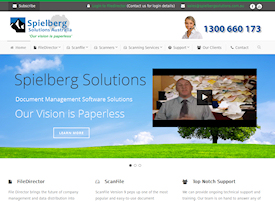 Speilberg Solutions webite design by Zap IT