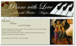 Piano with Love website Fremantle WA, by Zap IT <br/> click to view