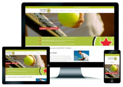 Tennis Coaching Website Design Perth